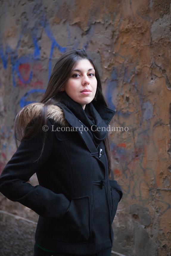 Valentina D'Urbano è nata nel 1985 a Roma, dove vive e lavora come illustratrice per l'infanzia. Milan, 23 novembre 2013. © Leonardo cendamo