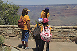 Teacher with Hispanic and Navajo  students  on a school field trip in Grand Canyon National Park, Arizona. . John offers private photo tours in Grand Canyon National Park and throughout Arizona, Utah and Colorado. Year-round.