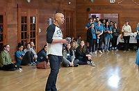 Rob Flot, Vice President for Student Affairs and Dean of Students<br /> Occidental College students, staff and alumni volunteer all over the Los Angeles area as part of MLK Day of Service, organized by the Office of Community Engagement (OCE), on Saturday, Jan. 26, 2019.<br /> In honor of Dr. King's spirit of service and peace, the aim of the MLK Day of Service is to engage Oxy students, staff, faculty, and alumni in community-based projects.<br /> (Photo by Marc Campos, Occidental College Photographer)