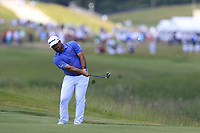 Roberto Diaz (MEX) chips into the 1st green during Thursday's Round 1 of the 117th U.S. Open Championship 2017 held at Erin Hills, Erin, Wisconsin, USA. 15th June 2017.<br /> Picture: Eoin Clarke | Golffile<br /> <br /> <br /> All photos usage must carry mandatory copyright credit (&copy; Golffile | Eoin Clarke)
