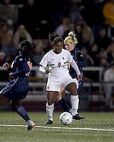 "Boston College forward Natalie Crutchfield (9) at midfield. Boston College defeated West Virginia, 4-0, in NCAA tournament ""Sweet 16"" match at Newton Soccer Field, Newton, MA."
