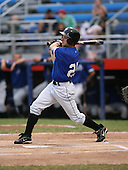 July 14th, 2007:  Matt Angle of the Aberdeen Ironbirds, Class-A Short-Season affiliate of the Baltimore Orioles, follows through on a swing during an at bat vs the Jamestown Jammers in New York-Penn League action.  Photo Copyright Mike Janes Photography 2007.