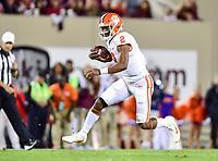 Blacksburg, VA - SEPT 30, 2017: Clemson Tigers quarterback Kelly Bryant (2) runs the ball during game between Clemson and Virginia Tech at Lane Stadium/Worsham Field Blacksburg, VA. (Photo by Phil Peters/Media Images International)