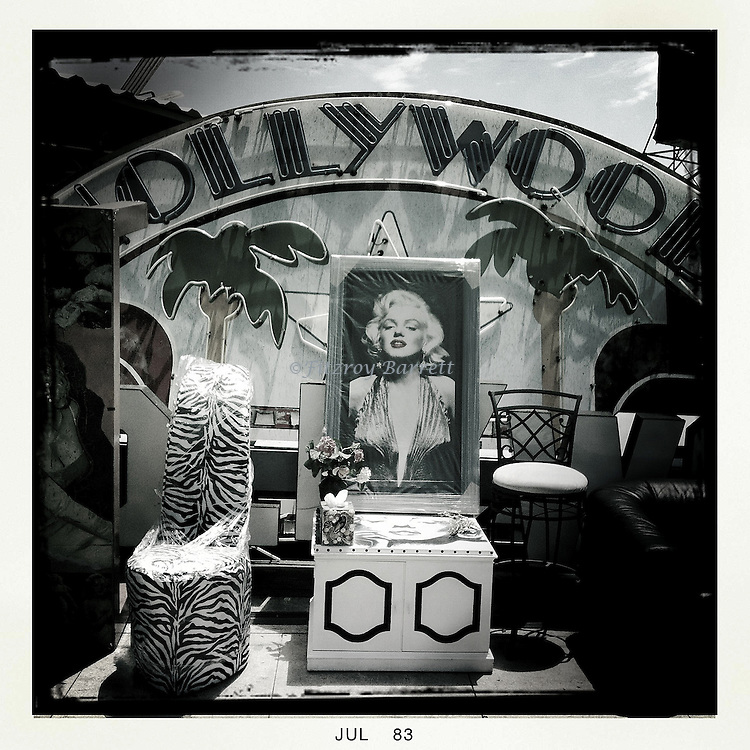 Old Hollywood a step back in time a shrine to Marilyn Monroe Los Angeles Ca. July 12, 2013.
