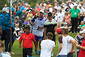 Thongchai JAIDEE (THA) tees off on the 2nd hole drives at the 2nd hole drives at the 2nd hole drives at the 2nd hole during the final round of the 2015 BMW PGA Championship over the West Course at Wentworth, Virgina Water, London. 24/05/2015<br /> Picture Fran Caffrey, www.golffile.ie