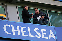 Hull City Manager, Leonid Slutsky, in conversation pre-match during Chelsea vs Manchester United, Premier League Football at Stamford Bridge on 5th November 2017