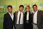 Shaun Sipos & Michael Rady & Katie Cassidy & Thomas Calabro  at the CW Upfront 2009 on May 21, 2009 at Madison Square Gardens, New York NY. (Photo by Sue Coflin/Max Photos)