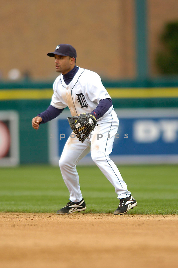 PLACIDO POLANCO, of the Detroit Tigers during their game against the Toronto Blue Jays, on April 4, 2007 in Detroit, Michigan...Tigers win 10-9....DAVID DUROCHIK / SPORTPICS