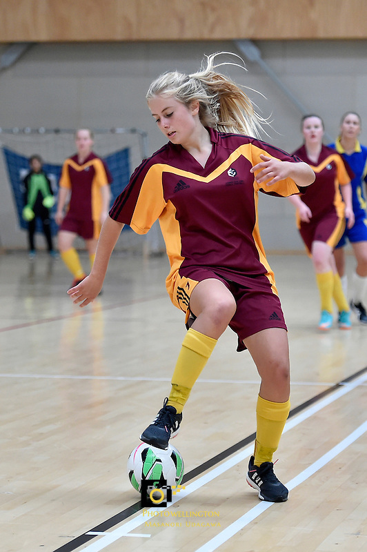 Action from the NZSS National Futsal Championships at ASB Sports Centre, Kilbirnie, New Zealand on Thursday 26  March 2015. <br /> Photo by Masanori Udagawa. <br /> www.photowellington.photoshelter.com.