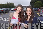 Deirdre Slattery and Laura Dempsey from Tralee, Pres Tralee students collecting their Junior Cert results on Wednesday. .