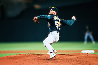 Tim Hudson of the Oakland Athletics during a game against the Anaheim Angels at Angel Stadium circa 1999 in Anaheim, California. (Larry Goren/Four Seam Images)