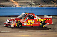 Nov. 13, 2009; Avondale, AZ, USA; NASCAR Camping World Truck Series driver Chris Lafferty during the Lucas Oil 150 at Phoenix International Raceway. Mandatory Credit: Mark J. Rebilas-