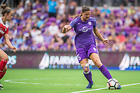 Orlando, FL - Saturday April 22, 2017: Laura Alleway during a regular season National Women's Soccer League (NWSL) match between the Orlando Pride and the Washington Spirit at Orlando City Stadium.