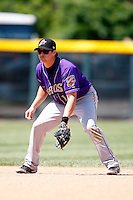 May 31, 2009:  Second Baseman Jared Head of the Akron Aeros in the field during a game at Jerry Uht Park in Erie, NY.  The Aeros are the Eastern League Double-A affiliate of the Cleveland Indians.  Photo by:  Mike Janes/Four Seam Images