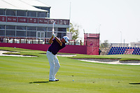 Scott Hend (AUS) on the 18th during the Pro-Am of the Commercial Bank Qatar Masters 2020 at the Education City Golf Club, Doha, Qatar . 04/03/2020<br /> Picture: Golffile   Thos Caffrey<br /> <br /> <br /> All photo usage must carry mandatory copyright credit (© Golffile   Thos Caffrey)