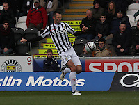 Steven Thompson in the St Mirren v Dundee United Clydesdale Bank Scottish Premier League match played at St Mirren Park, Paisley on 27.10.12.