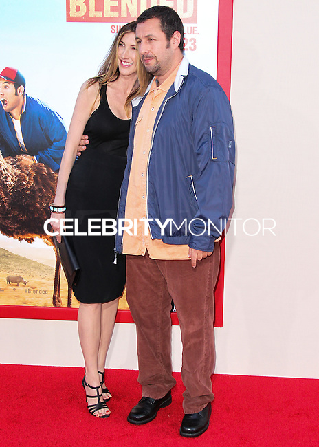 HOLLYWOOD, LOS ANGELES, CA, USA - MAY 21: Jackie Sandler, Adam Sandler at the Los Angeles Premiere Of Warner Bros. Pictures' 'Blended' held at the TCL Chinese Theatre on May 21, 2014 in Hollywood, Los Angeles, California, United States. (Photo by Xavier Collin/Celebrity Monitor)