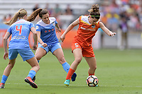 Houston, TX - The Houston Dash defeated the Chicago Red Stars 2-0 on Saturday April 15, 2017: Alyssa Mautz, Stephanie Mccaffrey, Cari Roccaro during a regular season National Women's Soccer League (NWSL) match at BBVA Compass Stadium.