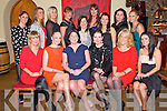 Kerri O'Connor, Norma O'Donoghue, Grace O'Donnell, Annemarie O'Leary, Mary Stapleton, Annette O'Brien, Gemma Knightly, Geraldine Mangan, Fiona O'Connor, Karyn Moriarty, Catriona Rohan, Anne Drury, Sheila Marie O'Brien, Marlyn Duffy and Emma Houlihan pictured enjoying a night out in Sol Y Sombra, Killorglin on Saturday night.