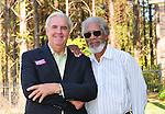 Oscar winning actor Morgan Freeman rolls out theh red carpet for his friends campaign to be the next Democratic Governor of Mississippi. Luckett and Freeman pose during a fundraiser for Luckett for Governor duringa fund raiser in Madison MS. Sunday Oct. 17,2010.Photo©Suzi Altman