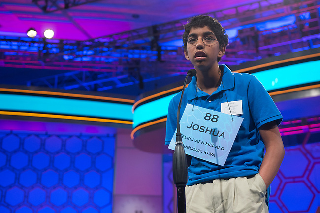 Speller 88 Joshua N. Kalyanapu competes in the preliminary rounds of the Scripps National Spelling Bee at the Gaylord National Resort and Convention Center in National Habor, Md., on Wednesday,  May 30, 2012. Photo by Bill Clark
