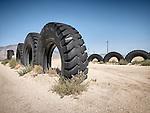 Big rubber tires, Hawthorne Speedway (racing track), Hawthorne, Nevada