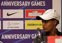 Sifan Hassan (Netherlands) – 5000m – World mile record holder & multi-world medallist during the Muller Anniversary Games 2019 pre-event media day at the Leonardo Royal Hotel, Prescod Street, England on 19 July 2019. Photo by Alan  Stanford.