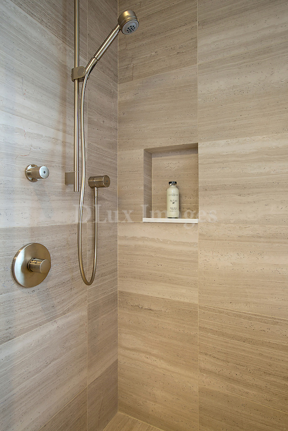 modern shower cubicle