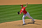 16 June 2012: Washington Nationals' relief pitcher Ross Detwiler on the mound against the New York Yankees at Nationals Park in Washington, DC. The Yankees defeated the Nationals in 14 innings by a score of 5-3, taking the second game of their 3-game series. Mandatory Credit: Ed Wolfstein Photo