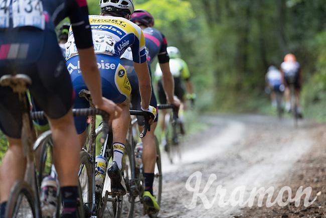 race leaders over the gravel<br /> <br /> Dwars door het Hageland (1.1)<br /> 1 Day Race: Aarschot &gt; Diest (194km)