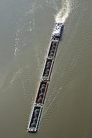 Schubschiff auf der Elbe mit vier Einheiten: EUROPA, DEUTSCHLAND, HAMBURG, (EUROPE, GERMANY), 22.09.2016 Schubschiff auf der Elbe mit vier Einheiten