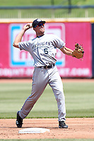 West Michigan Whitecaps second baseman Hernan Perez #5 during the first game of a double header against the Lake County Captains at Classic Park on May 30, 2011 in Eastlake, Ohio.  West Michigan defeated Lake County 5-0.  Photo By Mike Janes/Four Seam Images
