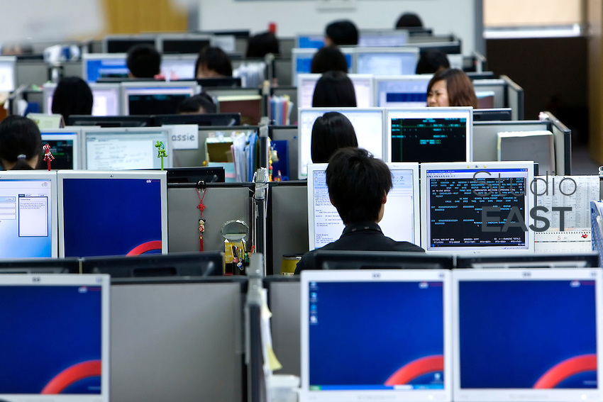 Citi Call Center in Zhuhai, Guangdong province, on May 27, 2010. Photo by Lucas Schifres/Pictobank