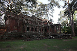 An outlying temple presents a haunting atmosphere at Angkor Wat, Cambodia. June 9, 2013.