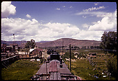 View of stock train at Iola.<br /> D&amp;RGW  Iola, CO  Taken by Maxwell, John W. - 6/6/1940