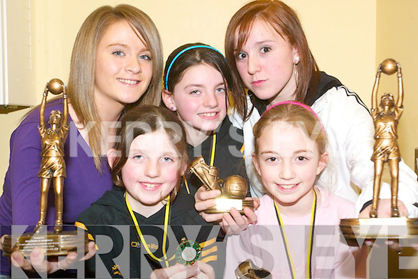 GIRL POWER: Attending the Listowel Emmet's Awards Night at the Emmets club room were Heather O'Rourke, Maimie O'Flynn, Evelyn O'Flynn, Ciara O'Brien and Megan Galvin.   Copyright Kerry's Eye 2008