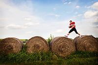 Boone Central/Newman Grove Quarterback Wyatt Mazour pictured on July 16, 2014 at his home in Albion, Neb.