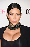 WEST HOLLYWOOD, CA - OCTOBER 12: TV personality Kim Kardashian arrives at Cosmopolitan Magazine's 50th Birthday Celebration at Ysabel on October 12, 2015 in West Hollywood, California.