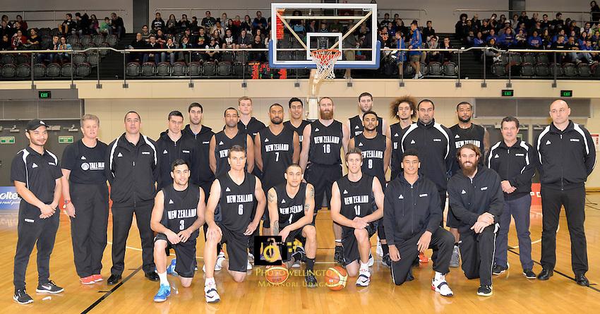 Action from the International Basketball - Tall Blacks v South Korea at TSB Bank Arena, Wellington, New Zealand on Tuesday 15 July 2014. <br /> Photo by Masanori Udagawa. <br /> www.photowellington.photoshelter.com.