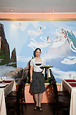 RUSSIA, Moscow. Portait of staff at Koryo, a North Korean restaurant in Moscow.