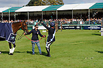 Stamford, Lincolnshire, United Kingdom, 8th September 2019, Pippa Funnell (GB) & MGH Grafton Street during the prize giving on Day 4 of the 2019 Land Rover Burghley Horse Trials, Credit: Jonathan Clarke/JPC Images