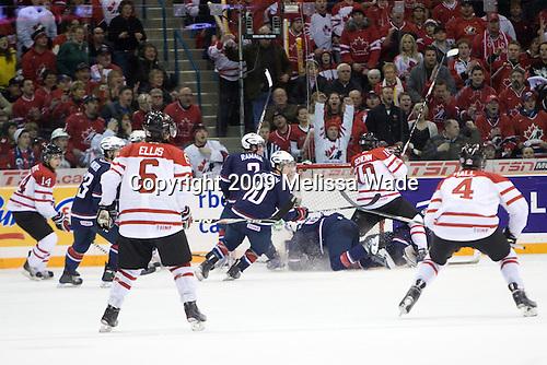 Team Canada defeated Team USA 5-4 (SO) on Thursday, December 31, 2009, at the Credit Union Centre in Saskatoon, Saskatchewan, during the 2010 World Juniors tournament.