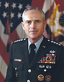 Head shot of United States Army General John A. Wickham, Jr., who was named by US President Ronald Reagan to be Chief of Staff of the United States Army on March 15, 1983.  This file photo was taken on June 30, 1982 when Gen. Wickham was serving as vice chief of staff of the United States Army.<br /> Mandatory Credit: Russell A. Roederer / US Army via CNP