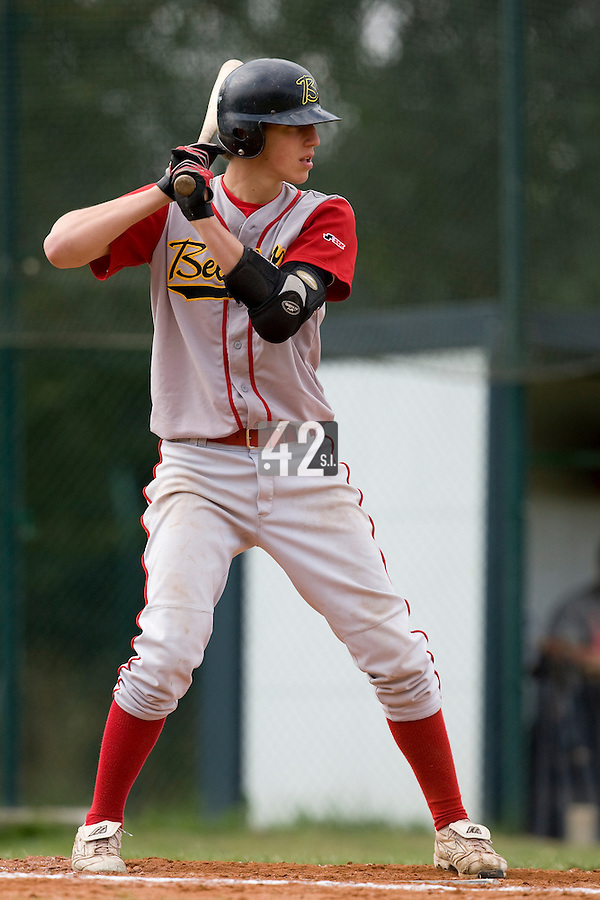 BASEBALL - EUROPEAN UNDER -21 CHAMPIONSHIP - PAMPELUNE (ESP) - 03 TO 07/09/2008 - PHOTO : CHRISTOPHE ELISE .BELGIUM VS RUSSIA (WINNER 6-5) - UNIDENTIFIED PLAYER (BELGIUM)