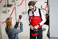 17th July 2020, Hungaroring, Budapest, Hungary; F1 Grand Prix of Hungary,  free practise sessions;  99 Antonio Giovinazzi ITA, Alfa Romeo Racing ORLEN  arrives at track in Budapest Hungary