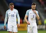 England's Calum Chambers with Alfie Mawson  during the UEFA Under 21 Semi Final at the Stadion Miejski Tychy in Tychy. Picture date 27th June 2017. Picture credit should read: David Klein/Sportimage