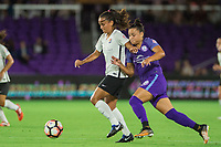 Orlando, FL - Saturday August 12, 2017: Camila Martins Pereira during a regular season National Women's Soccer League (NWSL) match between the Orlando Pride and Sky Blue FC at Orlando City Stadium.
