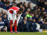 Arsenal's Mesut Ozil looks on dejected<br /> <br /> Barclays Premier League- Tottenham Hotspurs vs Arsenal  - White Hart Lane - England - 7th February 2015 - Picture David Klein/Sportimage