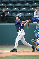 Cameron Eden (9) of the California Bears bats against the UCLA Bruins at Jackie Robinson Stadium on March 25, 2017 in Los Angeles, California. UCLA defeated California, 9-4. (Larry Goren/Four Seam Images)