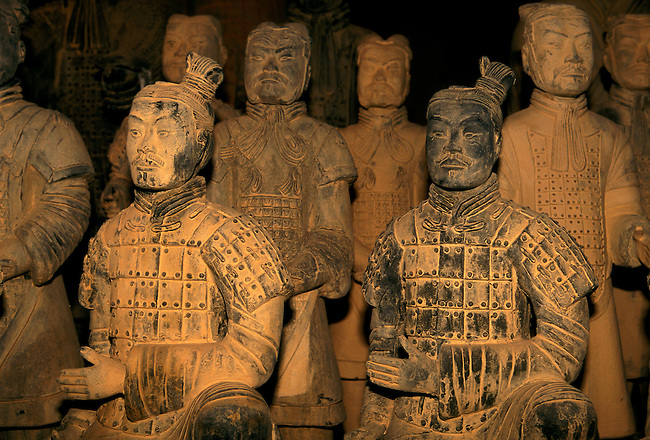 Terracotta warrior statues, guards of tomb of Qin Shihuang, Xian, Shaanxi Province, China, Asia.